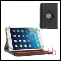 Wholesale Leather Canvas Tablet Case - Universal Jean 360 rotating leather case for 7 8 9 10 inch tablet cover MID ipad Samsujng Galaxy tab A E S2 lenovo