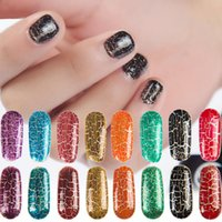 Crack Kleber Nail Art Soak Off UV Gel 8 Bunte Knistern UV Lack Cracking Shatter Nails Lack Nail Art Gel