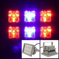 Wholesale Led Dual Flood Lights - Hydroponic Plant Flood IP65 18W LED Grow Light Bulb Dual Spectrum Panel RED Blue