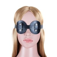 Wholesale Male Sex Toys Masks - PU Leather Goggles Round Blindfold Mask Attractive Adult Products Bondage Male And Female Sex Toys Restraint Blinder For Couples