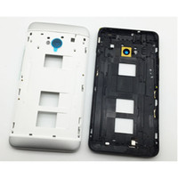 Wholesale Dual Sim One - New Back Panel Frame Middle Bezel case For HTC One Dual Sim M7 802t 802d 802w Housing +Camera Lens Glass with side buttons