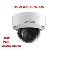 Wholesale Ir Dome Camera Audio - Hikvision original english version DS-2CD2135FWD-IS 3MP H.265 WDR POE IR SD Card Slot IP67 outdoor Audio alarm IR netowrk Dome Camera