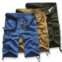 Wholesale Combat Cargo Shorts - Wholesale- Men Male Beach Short Pants Cargo Shorts Male Camouflage Army Combat Camo Casual Overalls Knee Length 268