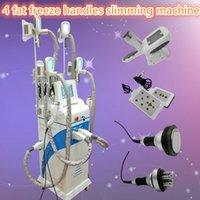 Wholesale Body Rf Handle - fat freeze machine lipo laser body slimming cavitation rf skin tightening machine 5MHZ RF handle 4 fat freezing handles