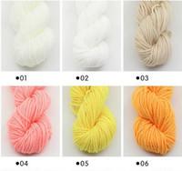 mano tejiendo ropa al por mayor-Hilo de algodón natural suave y suave tejido de punto hilados de tela hilado de tejer a mano ropa de bebé AlgodónYarn agujas de 2 mm de espesor