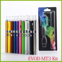 Wholesale mt3 electronic cigarette starter blister kit resale online - MT3 EOVD Starter Kit Electronic Cigarettes Blister Kit mah mah mah ML MT3 Vaporzizer EVOD Battery E cigarette