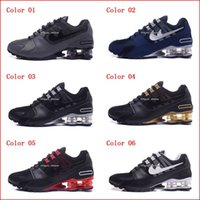 Wholesale Discounted Mens Casual Shoes - Running Shoes For Men Shox NZ Ultra Sneakers Boots Authentic 2017 New Mens Black Red White Walking Discount Sports Casual Shoes