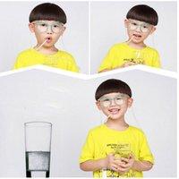 ingrosso occhiali da sole morbidi-Occhiali da sole Cannuccia Divertenti Bambini Occhiali morbidi colorati Occhiali da sole bevibili flessibili unici Regalo per bambini