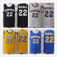 Mode 22 Quincy McCall Jersey Basketball Crenshaw Männer High School Schwarz Gelb Blau Weiß Film Shirt Uniformen Throwback
