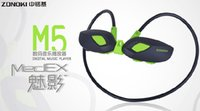 Wholesale Mp3 Sport Headset Memory - Wholesale- Brand new Zonoki M5 headphone Built-in 4g memory card fitness running wireless sports earphone type mp3 headset mp3 music player