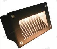 su geçirmez basamaklı ışıklar toptan satış-YENI 160 * 110mm Gömme Led Zemin Işıkları 3 W 5 W Merdiven Aydınlatma Led Adım Işık Su Geçirmez Açık Gömme Duvar Işık Lambası 110-130lm / W MYY