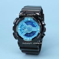 Wholesale Digital Rubber Strap Watches - 2017 new shock digital LED men's quartz sports watch strap rubber army military quartz watch watch waterproof wrist GA-100