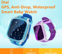 Wholesale Kid Locating Watch - DS18 Smart phone Watch kids Children GPS Location WiFi Locate Tracker SOS Call SMS Support SIM Card Kids Waterproof Smartwatch Anti-Lost