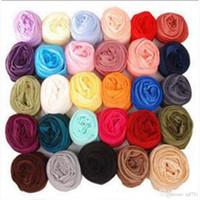 Wholesale Thin Fashion Scarves Women - New Fashion 2017 High quality 8 Styles Thin Section Silk Floss Women Scarf Shawl for Summer Female Beach Scarf Free Shipping