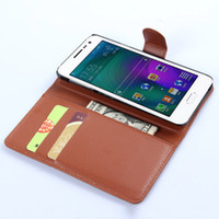 Wholesale Wallet Phone S4 - Wallet PU Leather Filp Case Cover For Samsung Galaxy S4 mini S5 S6 Active A8 Pouch with Card Slot Photo Frame Phone Bag