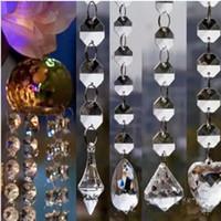 zincir perde toptan satış-Yeni Tasarım Akrilik Kristal Boncuk Garland Strand 14mm Boncuk Zincirler Bırak Düğün Sahne Centerpiece Ağacı Perde Dekorasyon Asılı