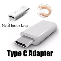 Wholesale Micro Usb Female Cable - USB 3.1 Type-C Male To Micro Female Data V8 Black & White Converter Adapter For Nokia N1 Letv OnePlus 2 Xiaomi 4C DHL