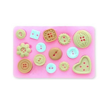 Wholesale Fondant Button - DIY Button Shape Silicone Mold Christmas Wedding Chocolate Candy Moulds Fondant Cake Decorating Tools Bakeware 20pcs Free DHL Fedex