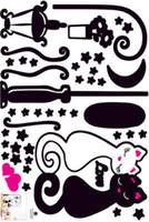 ingrosso murales di carta da parati dei bambini-Wall Sticker il nuovo disegno del gatto del ragazzo dei capretti Bedroom Wallpaper Children Foto della decorazione della casa di arte della stanza della decorazione murale Corridoio PVC