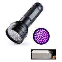Wholesale Uv Detectors - 51 UV LED Scorpion Detector Hunter Finder Ultra Violet Blacklight Flashlight Torch Light Lamp AAA395nm 5W