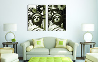 Oil Painting black and white painting portraits - Surprise Price Black and White Modular Picture The Statue Of Liberty Portrait Painting The Symbol Of Peace