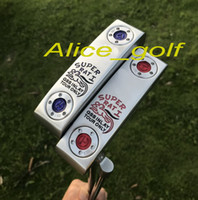 Wholesale Tour Golf - 2017 new golf putter super Rat putter GSS INLAY TOUR ONLY blue red colors with headcover wrench golf clubs