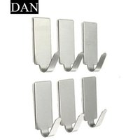 Venda por atacado - Hot Sale 1 Pieces 6x Home Kitchen Wall Door Self Adhesive Stainless Steel Stick Holder Hook Hanger