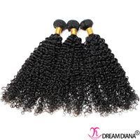 Wholesale diana weaves for sale - Group buy Human Hair Weave Kinky Curly Brazilian Virgin Hair Bundles Bundles Human Hair Extensions Natural Color DREAM DIANA