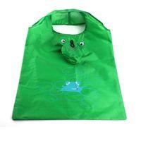 Wholesale Wholesale Frog Handbags - Wholesale- New Fashion 2016 Women Eco Friendly Reusable Portable Shopping Bag Grocery Handbags Tote Cartoon Frog Folding Holders Bags