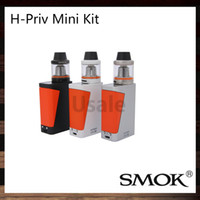 Kit mini HI-Priv di Smok con 50W H-Priv Mini TC Mod Modulo 1650mah Batteria 3.5ml British Triathlon Rosso Rosso Verde Fire Fire Design 100% Original