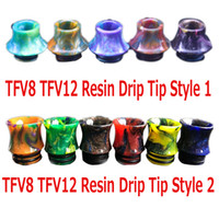 Wholesale Big Resin - 810 Thread Drip Tips Cone Shape Resin Snake Skin 4 Styles Mouthpiece for SMOK TFV8 TFV12 TFV8 Big Baby Tank Kennedy RDA With Retail Package