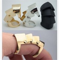Wholesale finger armor sets resale online - Fashion Rock Punk Gothic Goth Emo Cosplay Rings NANA Armour Armor Orbit Finger Silver Gold Ring for Girl High Quality Ring