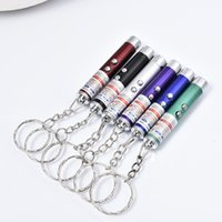 Wholesale ring work light - Popular LED Mini Flashlighs Multi-Functional LED Key Chain Carabiner Ring LED Laser Light Pointer Mini Torch Keychain