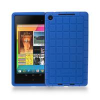 caso protector nexus al por mayor-Cubierta de funda protectora de silicona al por mayor para Google Nexus 7 FHD 2nd Gen 2013 Android Tablet Poetic