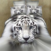 Wholesale Lion King Sheets Full - Bedding Set Quality Cotton 3D Animal Leopard Rose Tiger Wolf Lion Pattern Twin king Bedclothes Bed Sheet Duvet Cover Bedspreads