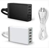 ipad şarj yuvası toptan satış-Hızlı Şarj İstasyonu Dock 5 USB Portu USB 3.0 Masaüstü Şarj 5 V / 8A iPhone 7 iPad Hava Akıllı Telefonlar için Tabletler