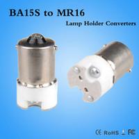 Wholesale Cfl Fire - BA15S to MR16 GU5.3 G4 Lamp Adapter Converter Led CFL light bulb Fire-proof PBT adapter BA15S-MR16 CE ROHS