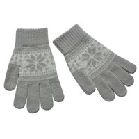 mittens flocos de neve venda por atacado-Atacado-Snowflake Mulheres Touch Screen Inverno Quente Tecida De Malha De Pulso-Luvas Mittens L18