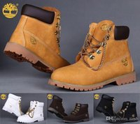 outdoor work boots - New Unisex Timberlands Ankle Boots with Chains Timberland Women Mens Outdoor Winter Snow Boots Work Hiking Shoes