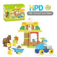 Wholesale Block Puzzle Toy - 2017 HPD Block Puzzle Boys Toys Girls Gifts Bricks THE HORSE IS UPSET Children Plastics Assemblage Building Blocks Puzzle Birthday Present