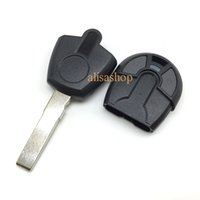 Wholesale Key Remote For Positron - 10pcs lot New style 2 buttons transponder car key fob shell blade can be seperated for fiat positron EX300 with logo