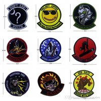 VP-218 Ricamo Tactical patch GHOST / NON ASK giacche patch militari biker progetto speciale Badge patch iron su patch