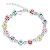 Wholesale Silver Chains Rolo Bracelets - r Stone Grizzly Silver Rolo Bracelet Ladies Fashion Popular Classic Bracelet Women Bracelet Female Wrist Jewelry Bracelets For Women
