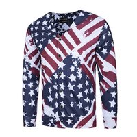 spangle fabric - Casual loose D print cardigan the Star Spangled Banner of US cardigan cotton Polyester Blend high quality fabric sweatshirt