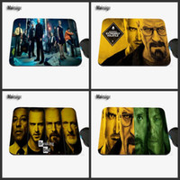 Wholesale Rubber Tv - Hot Sales TV breaking Bad Creative Photo Print Rubber Rectangular Game Table Pad Mouse Pad PC Computer Rubber Player Speed Pad