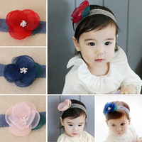 Wholesale The baby heads the babies flower and the floral bow have mutail colors and butterfly pictures