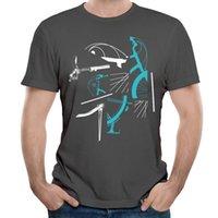 Wholesale Vitality Men - Creative Tops Tees For Men Vitality Geometric Mans Carbon T-shirt Crew Collar Male Fashionable Summer Shirt Soft Black