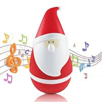 2017 New Hot Babbo Natale Speaker tumbler di Babbo Natale Altoparlante Bluetooth Tumbler Touch Music Player Roly-Poly KT08 Bluetooth Speaker nave DHL