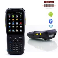 Compra 3g Scanner-All'ingrosso PDA3501 1D 2D Laser Barcode Scanner Portatif Android Terminale palmare Wifi Rugged Phone Data Collector 3.5