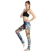 Wholesale Print Stretch Jersey - Butterfly Printing High-end Yoga Pants Sports And Leisure Wild Stretch Tight Hip-lift Fitness Pants Indoor Fashion Yoga Fitness Pants